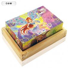 Кубики ИГРАЕМ ВМЕСТЕ WINX 6 кубиков в/п  C-6-W