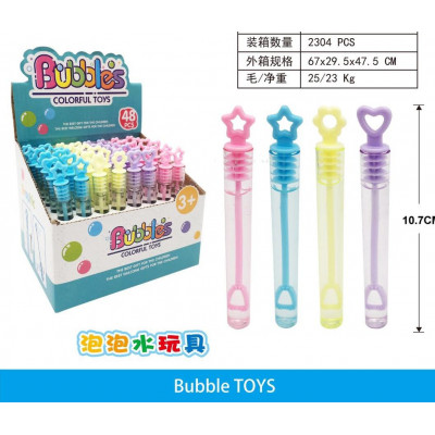 Мыльные пузыри нелопающиеся Bubble Tubes  (48шт) 1003
