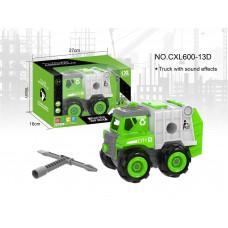 Машинка-конструктор с отверткой,CXL600-13D