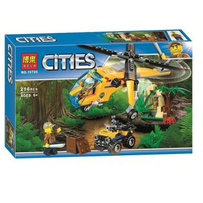 Конструктор CITIES Вертолёт 216дет. 10709