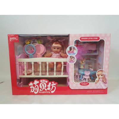 Кукла с кроваткой, YSN-324