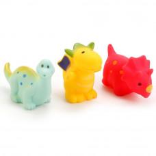 """Игрушки для ванной """"Играем вместе"""" 3 дракона в сетке В1595396"""