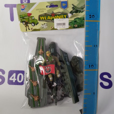 Набор военной техники с солдатом, 8671