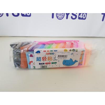 легкий пластилин 12 цв, в пакете, 6601. 2210-2