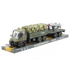 Игрушка машина военная +Прицеп с РАКЕТАМИ ZY190136