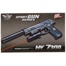 Пистолет (п) с лазер. прицелом, съемный магазин, с пульками 1B01582
