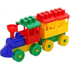 Конструктор-Паровоз с одним вагоном 2037