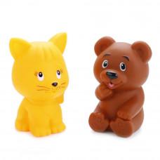 """Игрушки для ванной """"Играем вместе""""  Кот+мишка LXB336-340"""