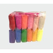 легкий пластилин большой 12 цв, в пакете, 4359