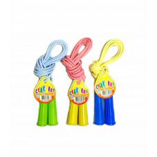 """Скакалка """"Детская"""" с пластмассовыми ручками (2,5 м) 54701"""