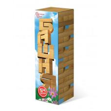 Башня 54 дет. в картонной коробке 119/20 (дерево) 59829