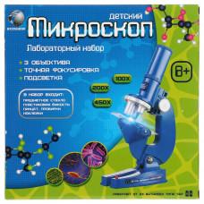 Микроскоп на бат. 3 объектива, фокусировка, подсветка, с аксесс.  B1005583R