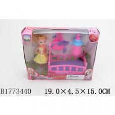 Мебель для кукол (кроватка) с куклой, с аксесс.  B1773440