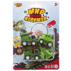 Набор инерц. военной техники 4шт., серия Мир micro игрушек,CRD13.5*20см,В93779