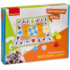 Обучающие игры Bondibon Настольная игра «ВЕСЕЛЫЙ СПОРТ», BB3326