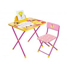 Набор дет.мебели ДИСНЕЙ 4 БЕЛЬ (стол570+стул+пенал),Д4Б