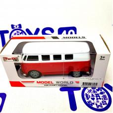 Автобус метал.в/к цвет в асс.1:32,  F1101-1