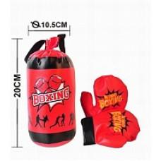 Набор для бокса №321-63 груша с перчатками/сетка