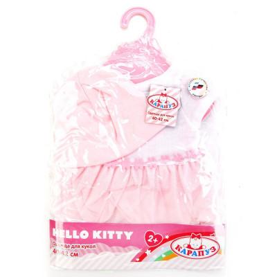 """Комплект одежды для куклы """"Карапуз""""HELLO KITTY 40-42см в пак OTF-BLC16-C-RU"""