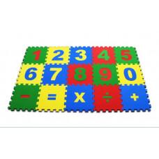 "Мягкий пол развивающий ""Математика""25*25см, 15 детали, Р56698"