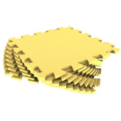 Мягкий пол универсальный, 33*33см,желтый 9 деталей, Р74762