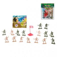 Набор военный фигурки солдат с картой в пак,,47739