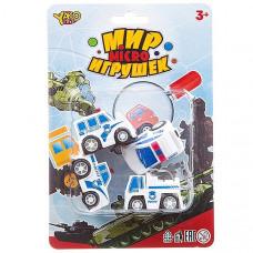 Набор инерц. полицейских машин 4шт., серия Мир micro игрушек,CRD13.5*20см,В93778