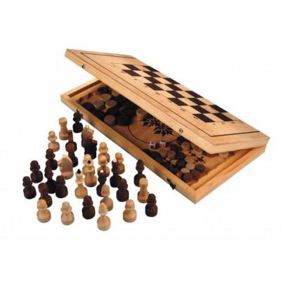 "Игра 2 в 1 ""Шахматы, нарды"" арт.Шк-2"