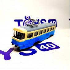 Игрушка Трамвай мет. в/к XL80117L