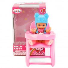 "Пупс ""Карапуз"" Hello Kitty 12см, со стулом д/кормления и аксесс.YL1701R-RU-HK"