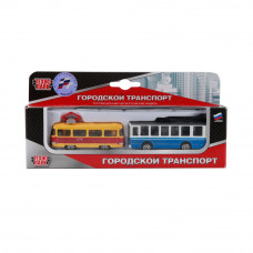 "Набор из 2-х моделей ""Технопарк"" Городс. транспорт 15-06"