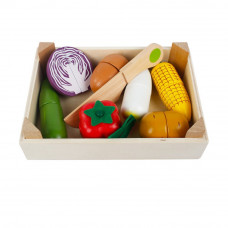 Дерев. игр. набор овощи в ящике, 2181-5