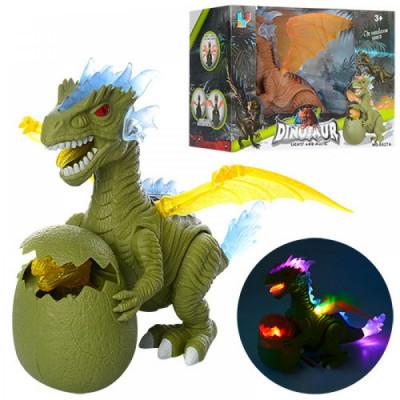 Динозавр на бат. с яйцом, 6627В