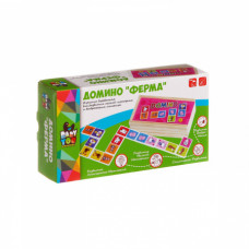 Игр. дерев.,  домино, Ферма, Bondibon,  ВВ1102