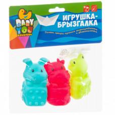 Игр. наб. для купания с брызгалкой, Bondibon, корова, лягушка, кролик, ВВ3131