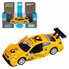 "ТМ ""Автопанорама"" Машинка 1:42 BMW M3 DTM, желтый, JB1251208"