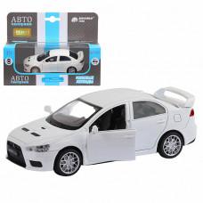 """ТМ """"Автопанорама""""  Машинка 1:40, Mitsubishi Lancer Evolution, белый,JB1251259"""