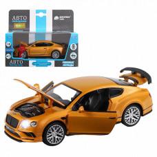 "ТМ ""Автопанорама""  Машинка 1:32 Bentley Continental, оранжевый, JB1251326"