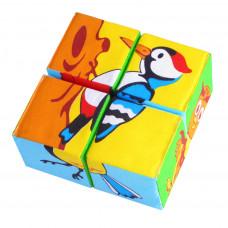"""Мякиши """"Кубики Собери картинку.Птицы"""" 4 кубика арт.239 /40"""