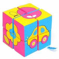 "Мякиши ""Кубики Собери картинку.Предметы"" 8 кубиков арт.335 /27"