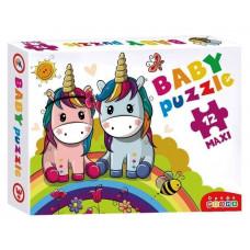 """Дрофа. 3848 Baby Puzzle. """"Радужные единороги"""""""