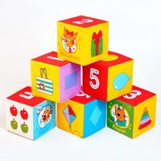 """Мякиши """"Три Кота"""" кубики (Математика) арт.473"""