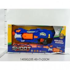 Оружие с мягкими пулями, на бат. со звуком в кор. 1409G205