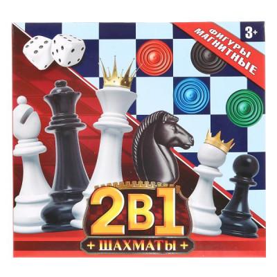 Шахматы магнитные, 2в1 (шахматы + наст.игра) Играем вместе  1704K633-R