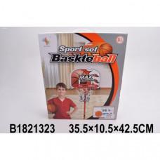 Набор для игры в баскетбол напольн. мет. 34х170см, щит 38х24см, мяч 18см, насос в кор. 1821323