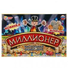 Настольная экономическая игра Миллионер с монетами. Умные игры 22478