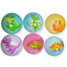Мяч Дино 22см, с наклейкой, цвет в ассорт. 2304-242