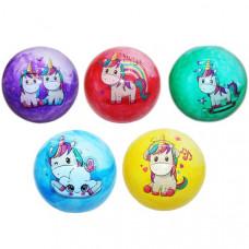 Мяч Пони 22см, с наклейкой, цвет в ассорт. в пак.  2304-PONY