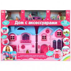 """Дом для кукол, на бат. с набором аксессуаров ТМ """"Играем вместе"""" B863898-R"""