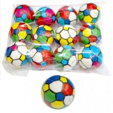 Мяч 6,3 см, Футбол цветной, полиуретан, в ассорт. в пак.  PU63-124